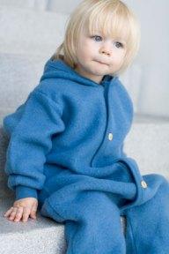 Blå uldfleece fra Engel