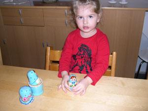 Sofia med sin nye Babushka dukke!