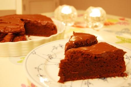 Chokoladekage m/creme
