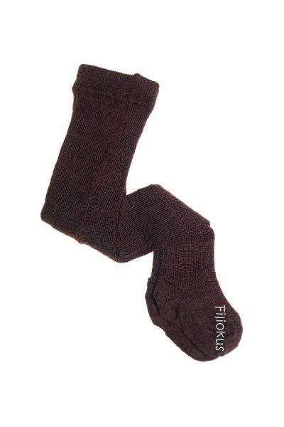 Strømpebuks i uld - brun